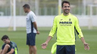 Mario gaspar, en el entrenamiento del Villarreal