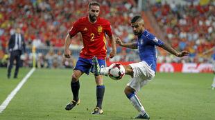 Insigne en el partido de Clasificación para el Mundial ante España