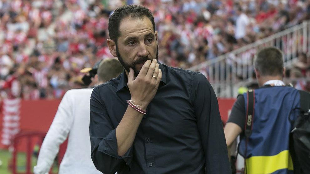 Machín, en el partido ante el Atlético de Madrid