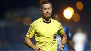 Iglesias Villanueva durante un partido de Copa.