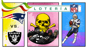 La lotería para el Raiders vs Patriotas.