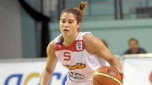 Leonor Rodríguez con la camiseta de España