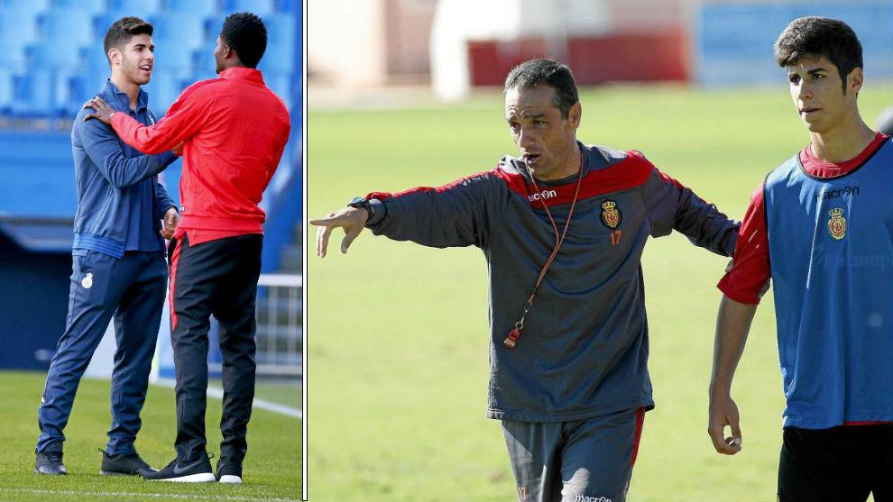 Asensio y Thomas se saludan antes de un Espanyol-Atlético y Oltra con...