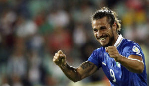 Osvaldo, con la camiseta de la selección italiana