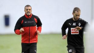 Pedro Le�n entrena en Atxabalpe