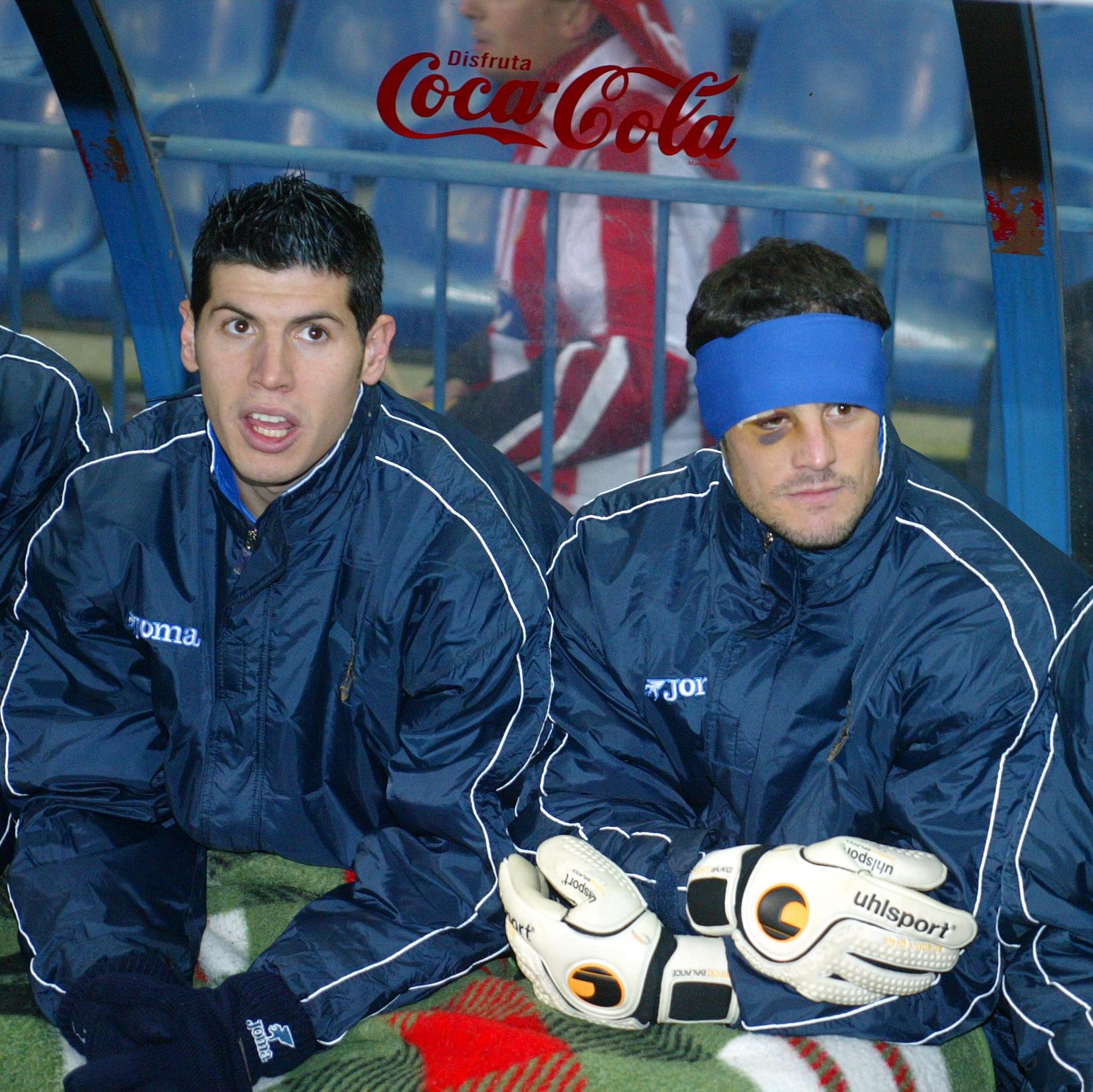 Luque y Dani Mallo en el banquillo en la temporada 02/03