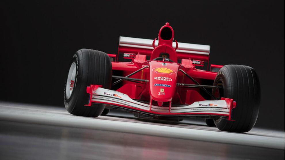 El F2001 que pilotó Schumacher vendido en Sotheby's