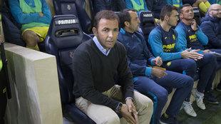 Javier Calleja, entrenador del Villarreal.