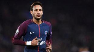 Neymar, durante un partido del Paris Saint-Germain