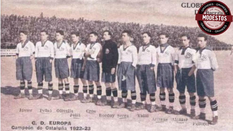 El Europa campeón de Cataluña y subcampeón de Copa de 1923