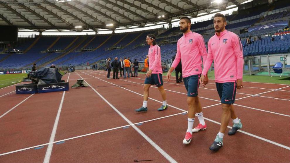 Filipe, Koke y Carrasco reciben el alta y entran en la convocatoria para el derbi