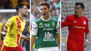 Diego Valdés, Mauro Boselli y Rubens Sambueza.
