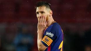 Lionel Messi, en el partido entre el Barcelona y el Sevilla
