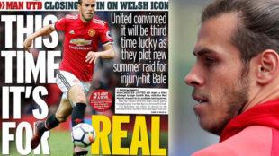 En Inglaterra apuntan que Bale está cerca del Manchester United