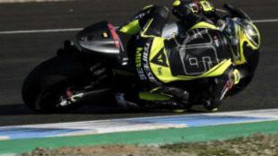Joan Mir, durante los entrenamientos en el circuito de Jerez