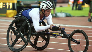 Tatyana McFadden, en los Mundiales de Londres de este año