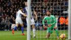 Morata celebra el gol con el que puso el 0-1 para el Chelsea.