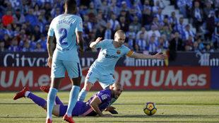 Iniesta sumó en Butarque su victoria 300 con el Barcelona en Liga