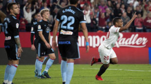 Muriel, celebrando su gol