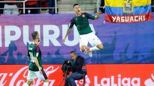 Sergio, celebrando un gol en Ipurua