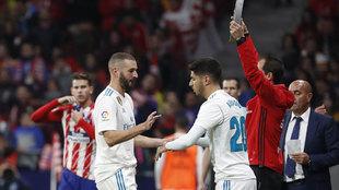 Asensio entra por Benzema en el derbi