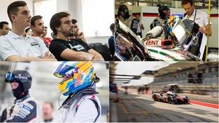 Fernando Alonso, en el test FIA WEC de Bahréin
