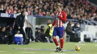 Griezmann se marcha sustituido en el Wanda Metropolitano.