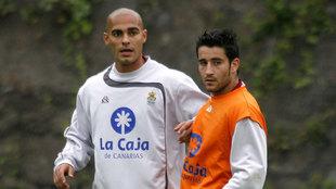 Alexis Suárez, en una foto de archivo, durante su etapa en la UD Las...