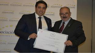 Jonathan Praena, presidente del Fuenlabrada recibe la Medalla de Oro...