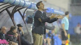 Muñiz, en un partido del Levante.