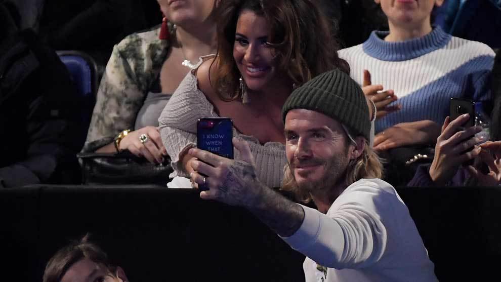 David Beckham, su hijo Romeo, el actor James Norton y el ex tenista...