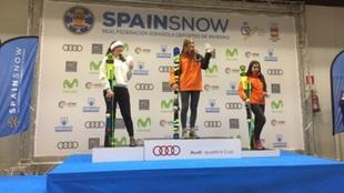 La catalana Arrieta Rodríguez (CEVA) subió a lo más alto del podio...