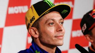 Valentino Rossi, en el pasado GP de Valencia