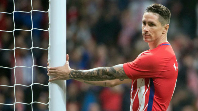 Torres, en el derbi ante el Madrid