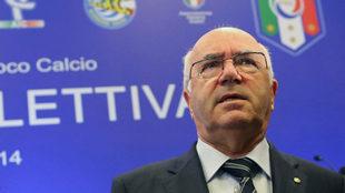 Carlo Tavecchio, expresidente de la Federación de Fútbol italiana