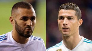 Benzema y Cristiano suman entre ambos dos goles en Liga.