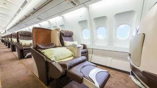 Imagen del avión en el que viajará el Villarreal.