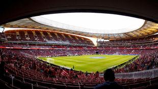 Imagen del Wanda Metropolitano instantes antes de su inauguración...
