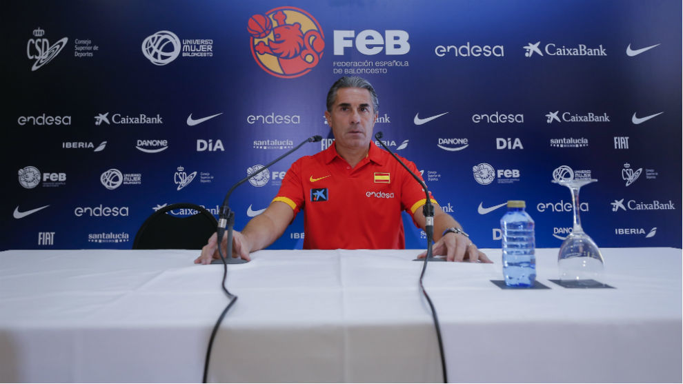 Sergio Scariolo, durante su comparecencia ante la prensa.