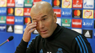 Zidane, durante la rueda de prensa previa al duelo ante el APOEL
