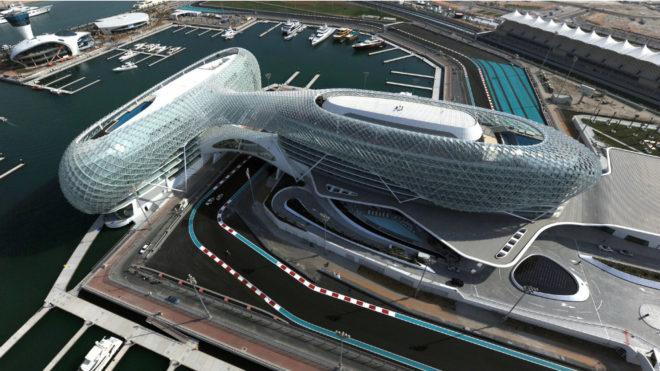 El circuito de Yas Marina.