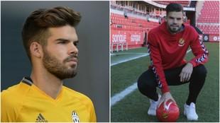 Carlos Blanco con la camiseta de la Juve y ahora en el Nástic