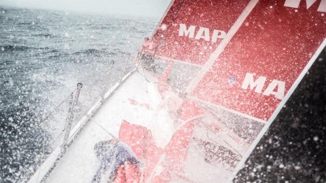 El MAPFRE navegando en el Atlántico Sur