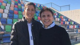 Garbiñe Muguruza junto a José Mota