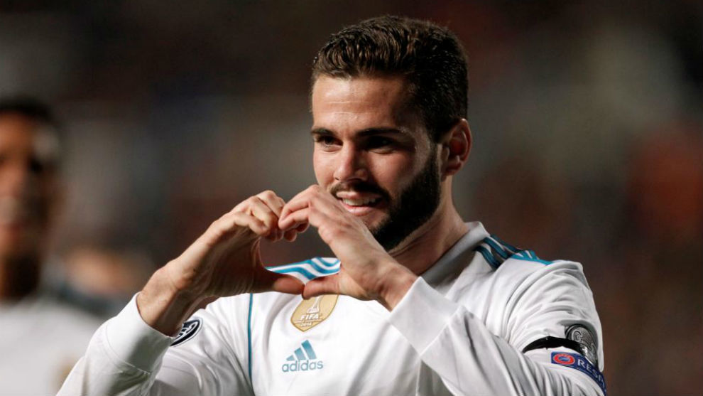 Nacho celebrates his goal against APOEL