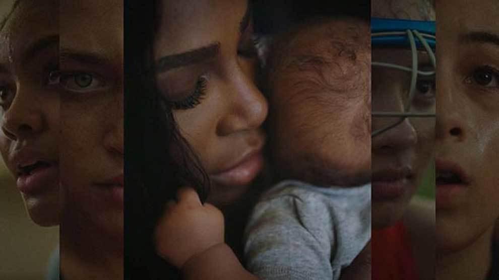 Serena Williams con su hija