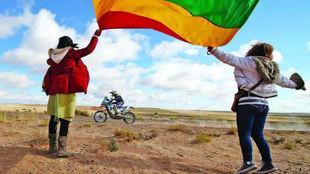 La afición bolivariana en el Dakar