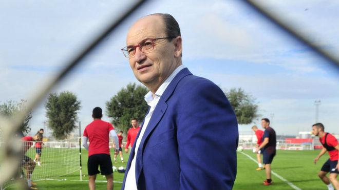 José Castro, en la ciudad deportiva del Sevilla.