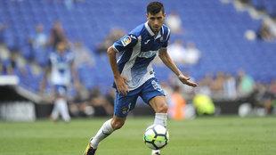 Aarón, en un partido con el Espanyol.