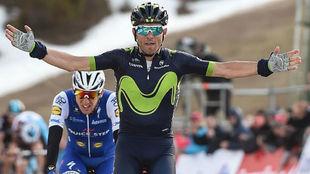 Alejandro Valverde durante la Volta de este año.